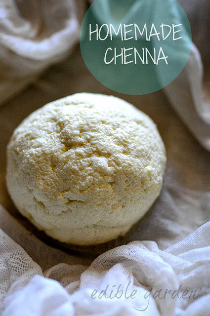 Chenna recipe, how to make chenna recipe for Indian sweets - Edible Garden
