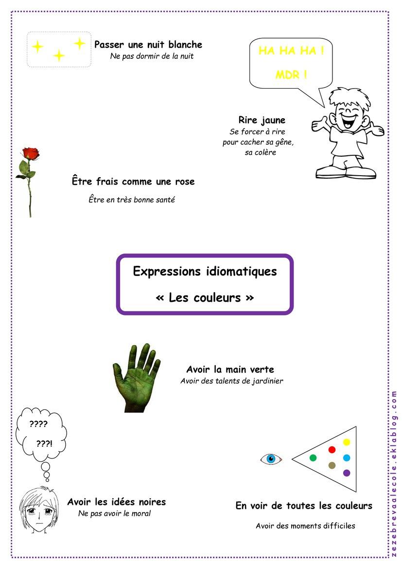 Wyrażenia z kolorami - wyrażenia 4 - Francuski przy kawie