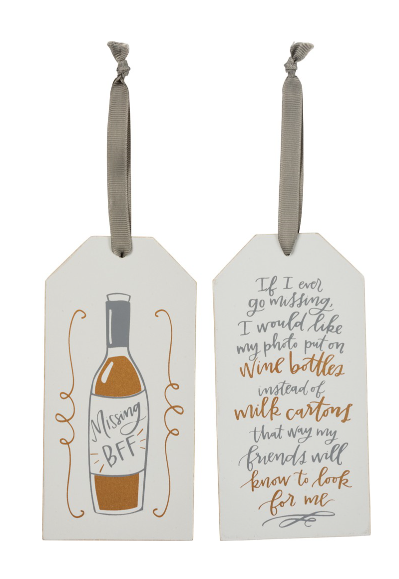 Bottle Tag If I Go Missing Put Photo On Wine Carlyn Smith Creations