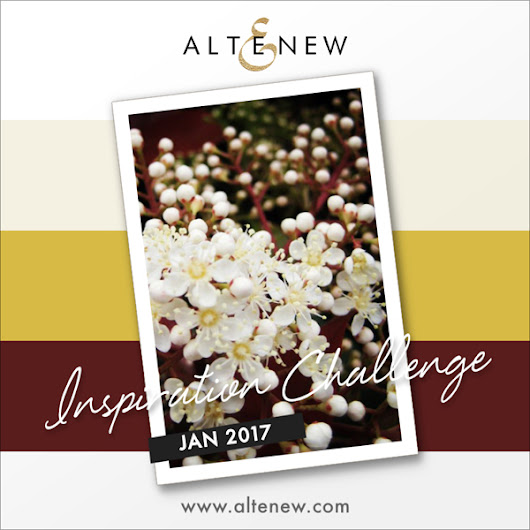 "Altenew January 2017 Inspiration Challenge ""Hello"" card"