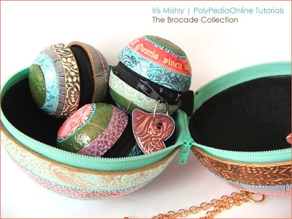Polymer Clay Brocade Collection Purses