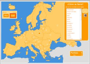 Juego Mapa Interactivo De Europa.Mapa Interactivo Europa Capitales Mapa