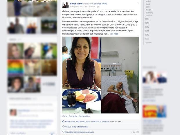 Apelo em rede social conta com quase 20 mil compartilhamentos. (Foto: Reprodução/ Facebook)