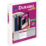 Avery Dennison Durable View Binder with One Touch EZ-Turn Rings, White, 1""