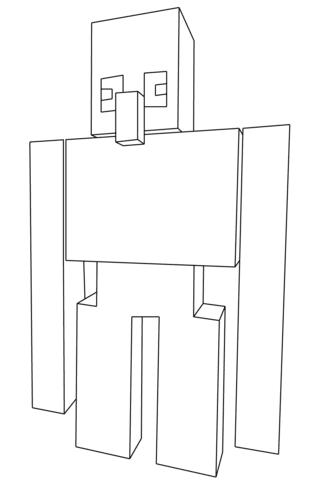 Dibujo De Golem De Minecraft Para Colorear Dibujos Para Colorear