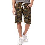 Alternative Victory Printed Burnout French Terry Shorts