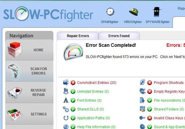 تحميل برنامج SLOW-PCfighter للتخلص من بطىء الجهاز وتحسين اداءه مجانى