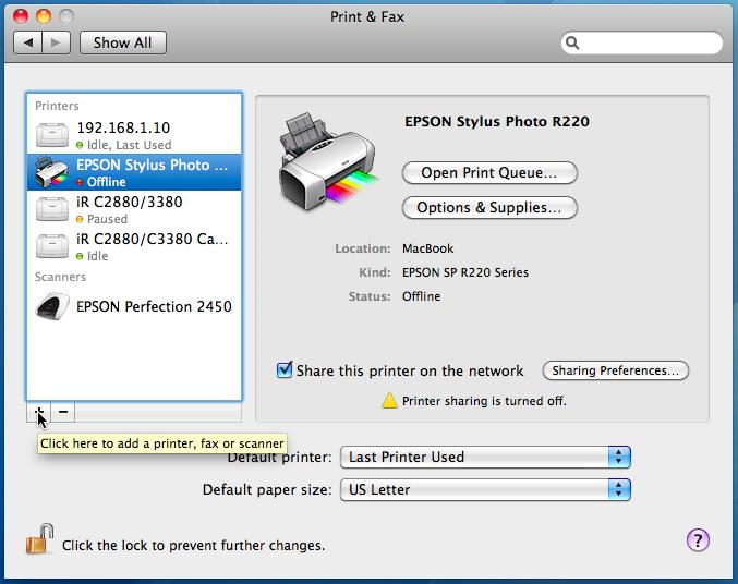 Windows Add Printer Mac