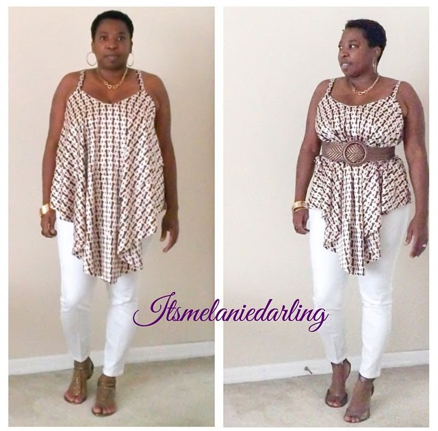Sewing Table Joanns Its Melanie Darling: McCalls 7155: Charmeuse and Chains Layered Tank!