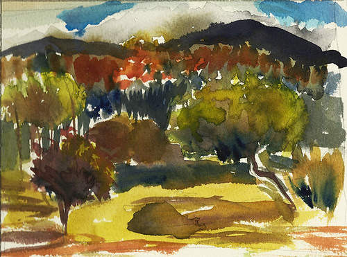 Color study, plein air, Vermont