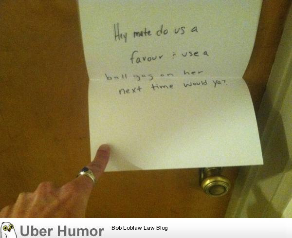 Saw This On A Neighbors Door Coming Home At Midnight Funny