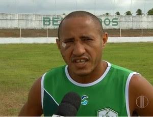 Quirino - atacante do Alecrim (Foto: Reprodução/Inter TV Cabugi)