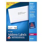 """Avery Easy Peel Address Label - 2.63"""" Width X 1"""" Length - 250 / Box - Rectangle - 30/sheet - Laser - White (AVE45160)"""