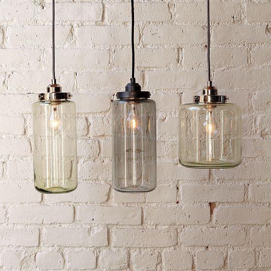 Glass Jar Pendants - contemporary - pendant lighting - by West Elm
