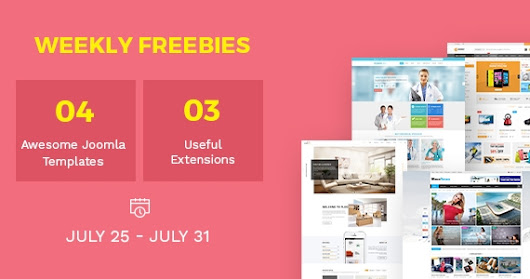 Weekly Freebies #6: 4 Trending Joomla Templates & 3 Extensions for Free