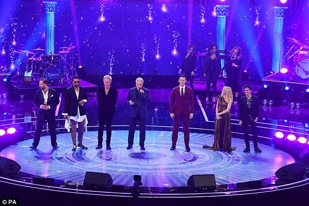 What a crowd! West End star Alfie Boe, Shaggy, Sting, Sir Tom Jones, Jamie Callum and Kylie Minogue joined forces on stage for a glittering evening