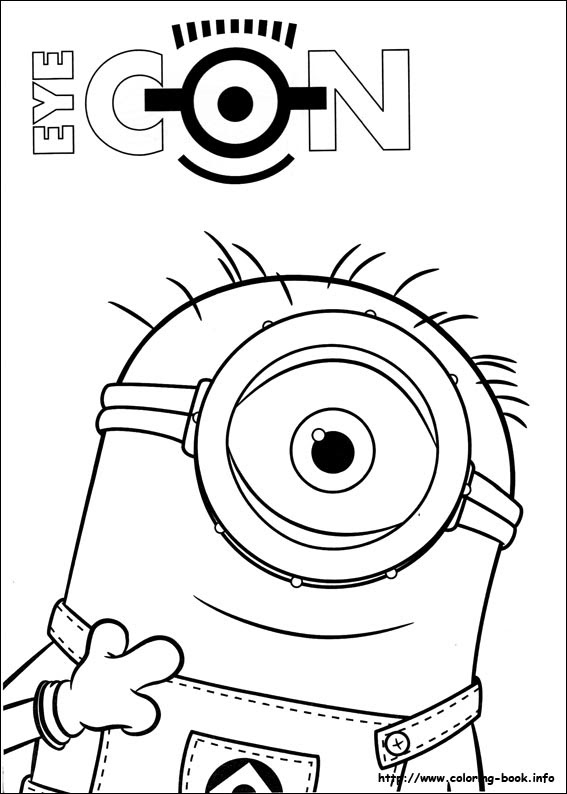 Easy Minion Coloring Pages at GetColorings.com | Free ...