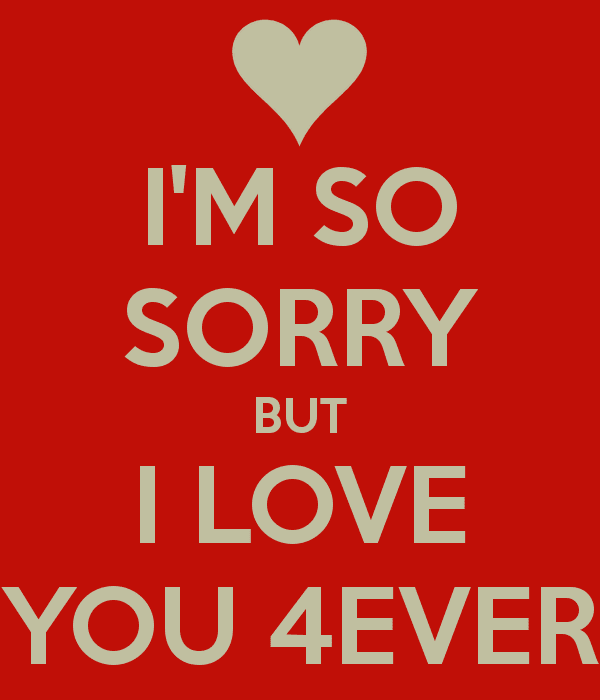 I Am So Sorry But I Love You Forever Pictures Photos And Images