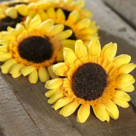 Artificial Sunflower Heads   Vase and Bowl Fillers   Home