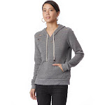 Alternative Distressed Hooded Sweatshirt - Eco Gray