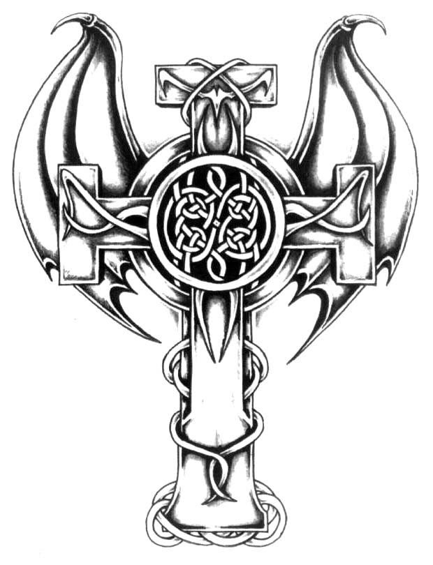 Free Black And White Cross Tattoo Download Free Clip Art Free Clip