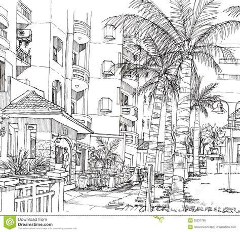 drawing  architecture condominium stock
