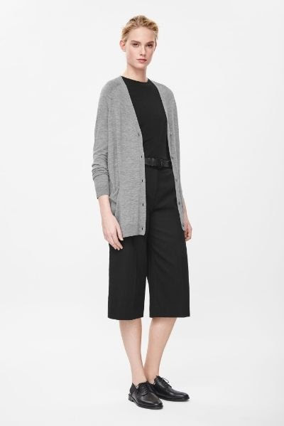 COS Fine-Knit Wool Cardigan
