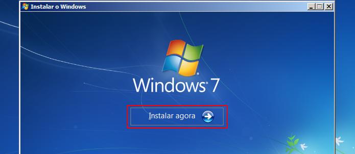 Iniciando a instalação do Windows 7 (Foto: reprodução/Edivaldo Brito) (Foto: Iniciando a instalação do Windows 7 (Foto: reprodução/Edivaldo Brito))