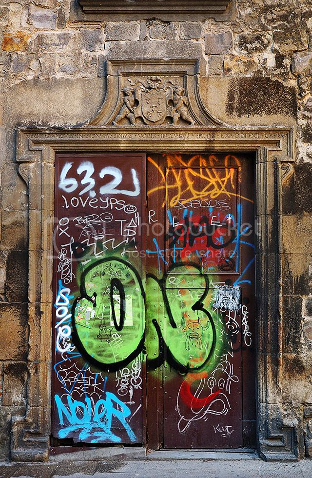 Graffiti on Ancient Door [enlarge]
