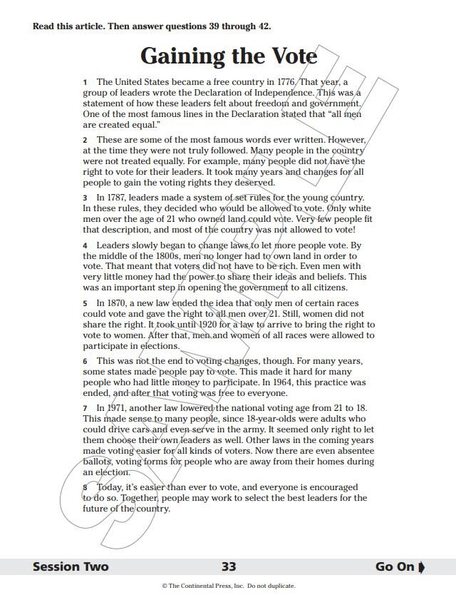 Ela State Test 2019 Answer Key Grade 8