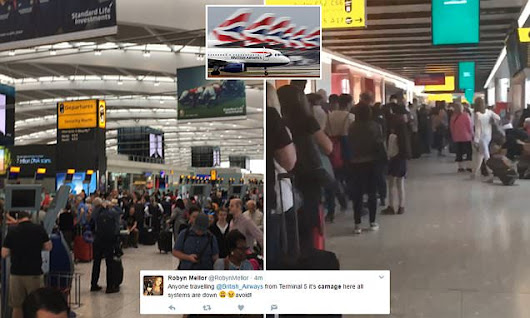 BA system is down as all Heathrow and Gatwick flights are cancelled