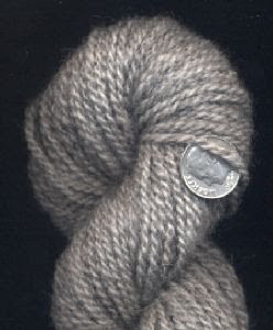 Finished yarn from Nikki, grey Shetland lamb.