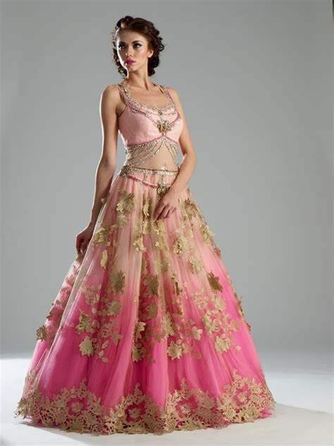 Pink color double shaded Indo Western Gown   Dresses