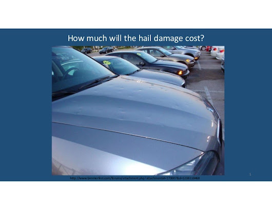 ICLR Friday Forum: Hail Impacts on automobiles: A state-of-the-art re…