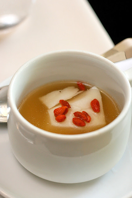 Steamed Cod Fish in Chinese Herbal Broth - by Golden Peony (Conrad Centennial Singapore)