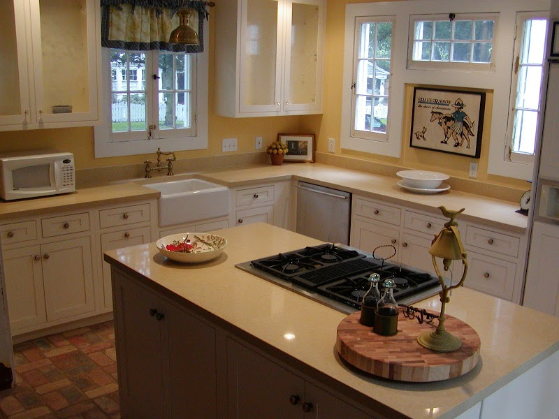 Cool Kitchen Countertop Ideas For White Cabinets images