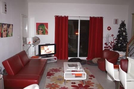 Decoration Salon Rouge