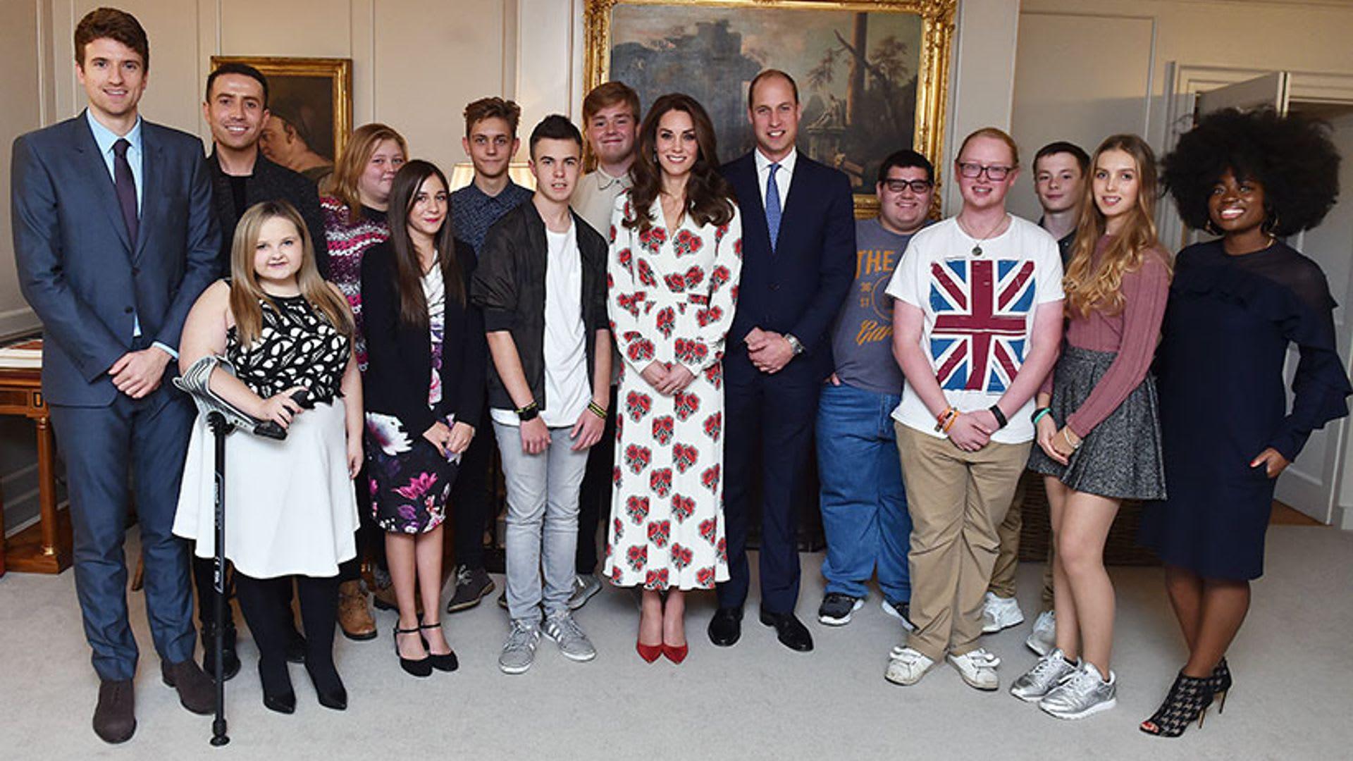 Znalezione obrazy dla zapytania duke and duchess of cambridge teen heroes