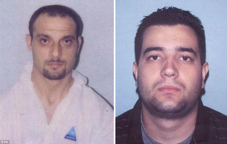 Em 2004 Nebojsa Denic (à esquerda) foi preso por 15 anos e Milão Jovetic (à direita) durante cinco anos para sua parte em uma conspiração para roubar uma loja de jóias em Mayfair, em Londres.  Ambos estão agora livres