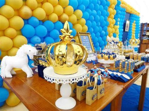 Blue And Yellow Royal Prince Birthday   Birthday Party