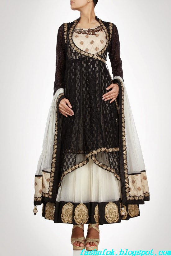 Anarkali-Gorgeous-Bridal- Wedding-Ankle-Length-Dress-by-Designer-Kiran-&-Shruti-Aksh-14