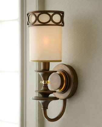 Antique Brass Sconce - traditional - wall sconces - by Horchow
