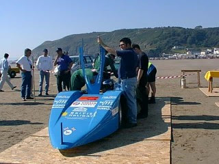 Bluebird Electric land speed record car, 1998