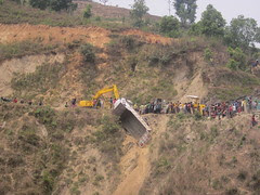 crash off the Kathmandu-Pokhara highway