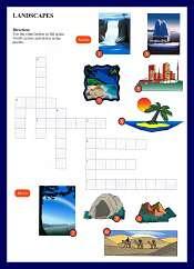 Landscape Vocabulary Crossword