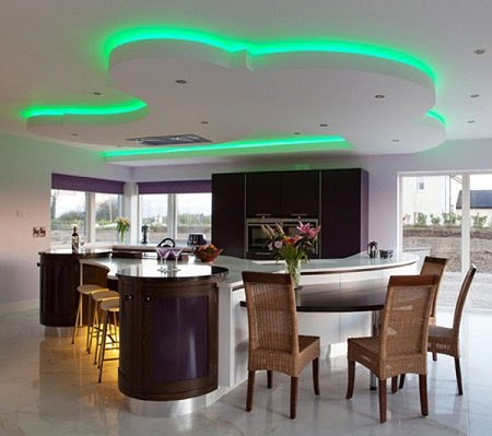 Desain Plafon Ruang Makan Dan Dapur