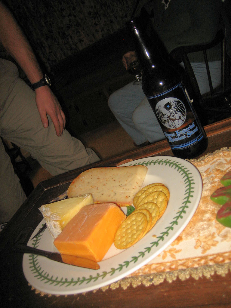 Wisconsin cheese and San Diego Stout