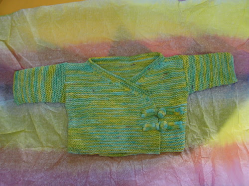 garter stitch baby sweater kimono