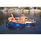 Intex Inflatable River Run II Double Seater Pool Lounge, White
