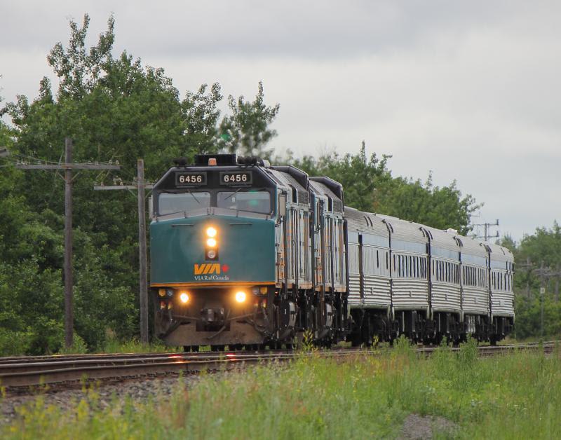 VIA 6456 in Winnipeg